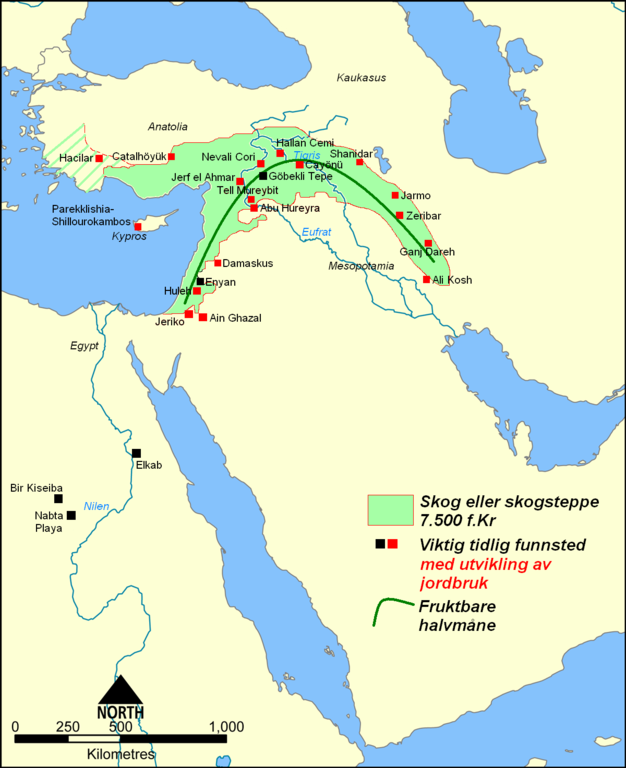 Fertile Crescent 7500 BC NOR