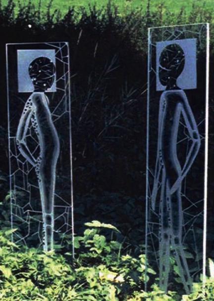 Begegnung Glaskunst von Sabine Nein 1996