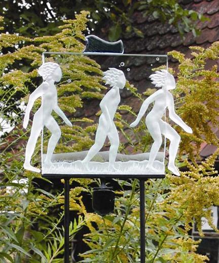 Wasserläufer Glaskunst von Sabine Nein 2005